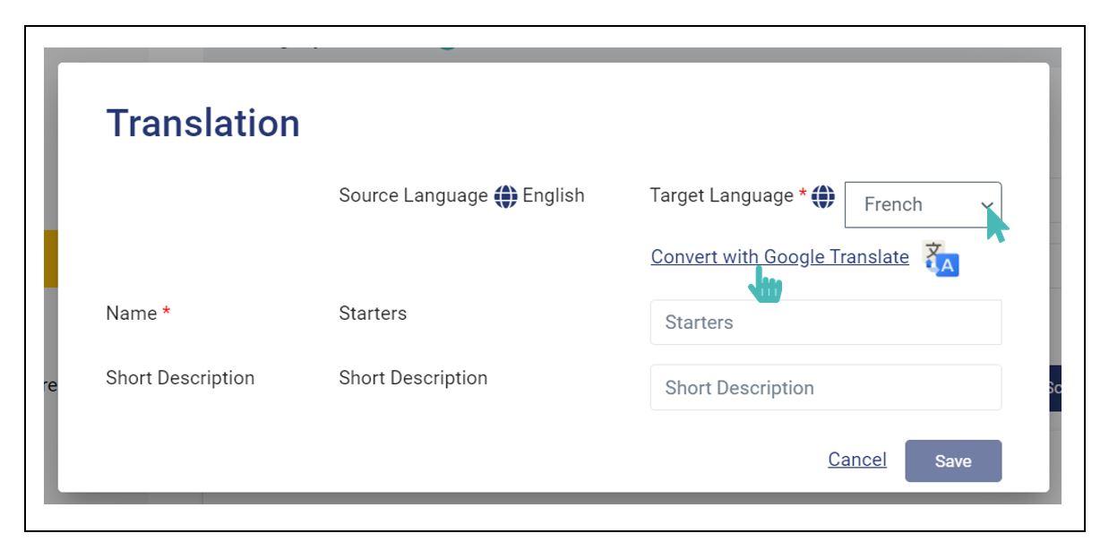 Click the Google Translate link for automated translation