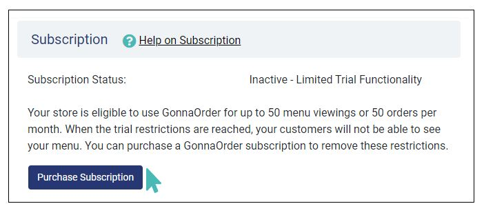 Subscription Inactive