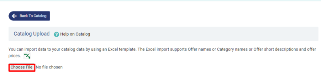 choose file to import