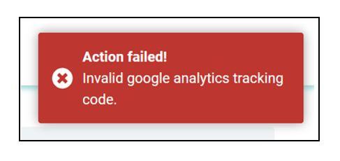 Erreurs d'identification de suivi non valides
