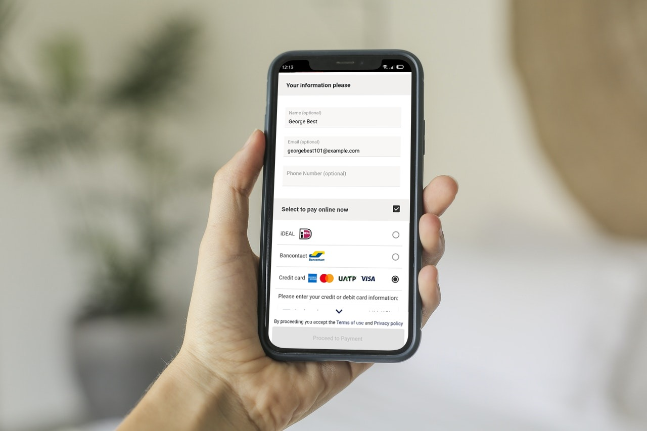 Payments sections on GonnaOrder app